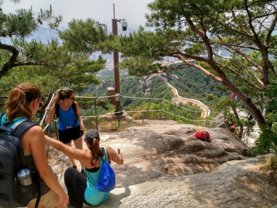 American Women's Club hiking in Korea