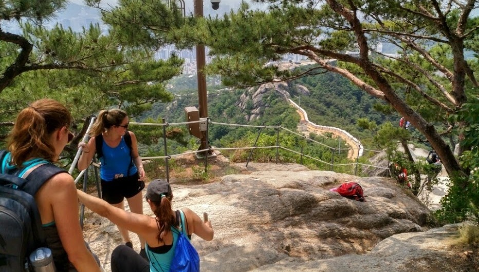 American Women's Club hiking in Korea